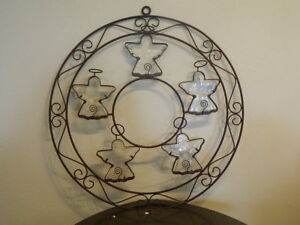 Image Is Loading Circle Round Wrought Iron Metal Wall Sculpture Art