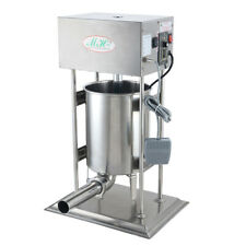 10l Commercial Electric Sausage Stuffer Stainless Steel Meat Filler Machine 220v