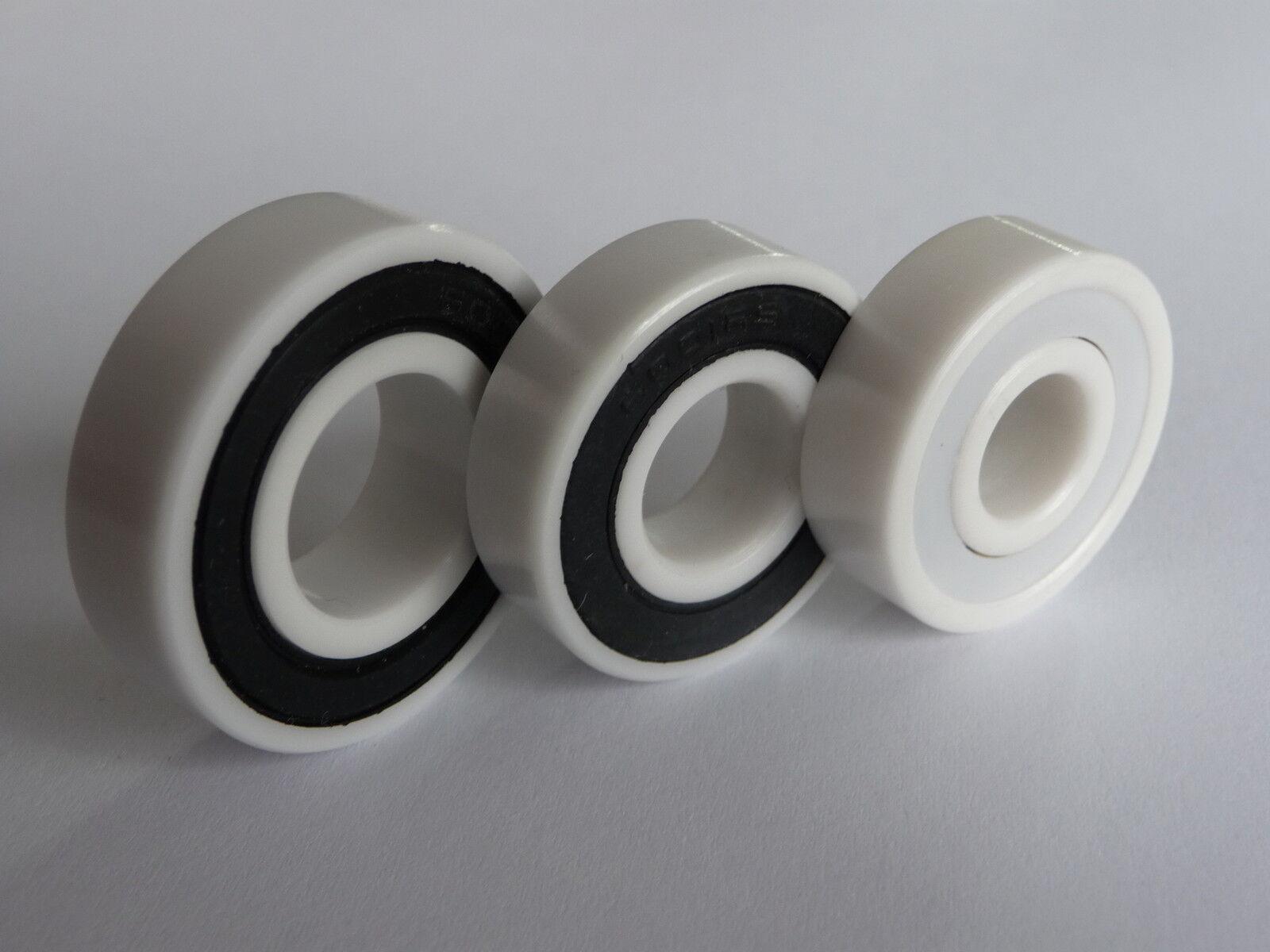 1x Kugellager 698-2RS/Full-Ceramic, ZRO2-Zirkonoxid, ...8x19x6 mm ...NEU
