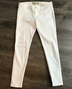 Hollister Mujer Jeans Super Skinny White Denim Talla 11 R Ebay