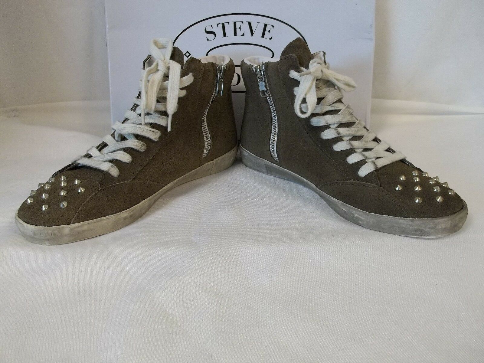 Steve Madden 11 M Twynkle Taupe Damenschuhe Suede Fashion Sneakers New Damenschuhe Taupe Schuhes 11628e