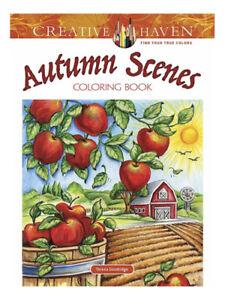 Adult Coloring Creative Haven Autumn Scenes Book By Teresa Goodridge Paperback 2017