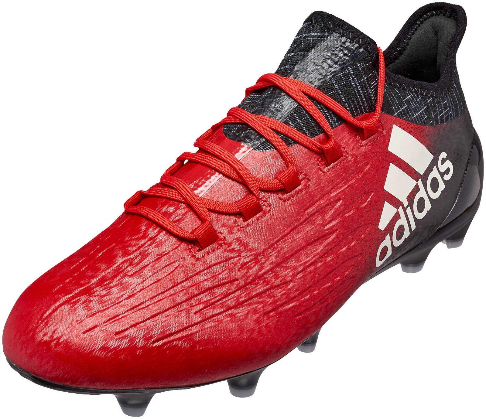 Adidas Hombres Zapatos botas De Fútbol X 16.1 Tierra Firme Botines De Fútbol Rojo Nuevo BB5618