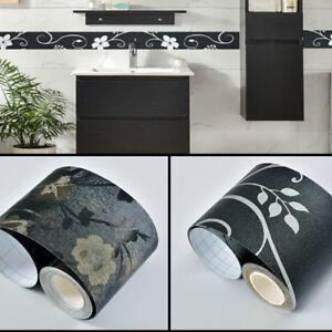 5M DIY Self Adhesive Wall Skirting Border Wallpaper ...