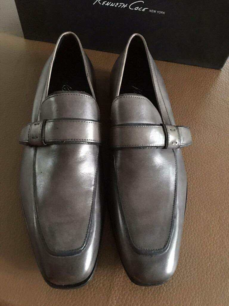 Scarpe casual da uomo Kenneth Cole Boardwalk Grey loafers, size 7 US, new in box