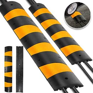 2Pcs-Modular-Rubber-Speed-Bumps-Electric-Traffic-Control-Parking-Lot-Warehouse
