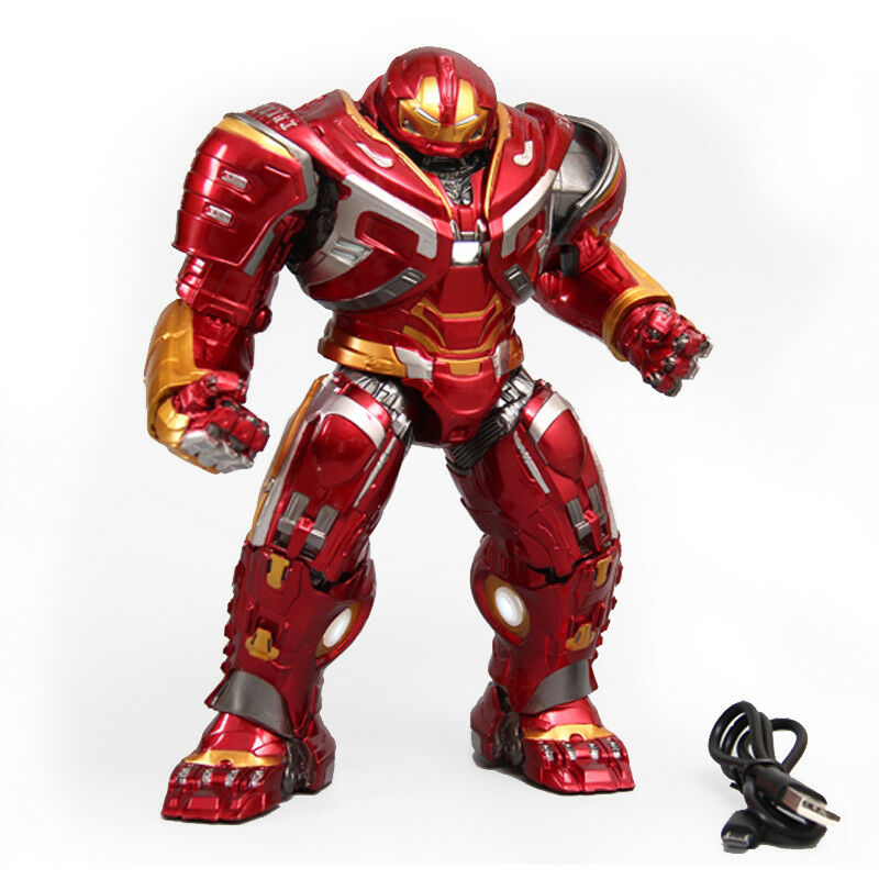8'' 8'' 8'' Avengers Armor Iron Man Hulkbuster 2.0 Action Figure LED Mark44 Statue Toy c0883b