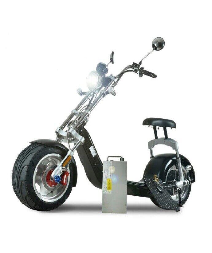 Electric scooter big wheels 1200W 20AH 2 seat E-sccoter EEC COC Street Legal