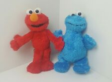 "Hasbro sesame street elmo and cookie monster 9"" plush toys teddy"