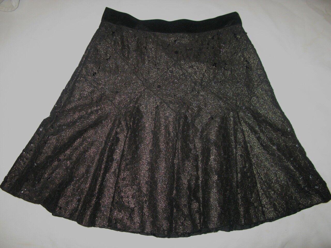 Anna Sui Metalic Lace Short Skirt
