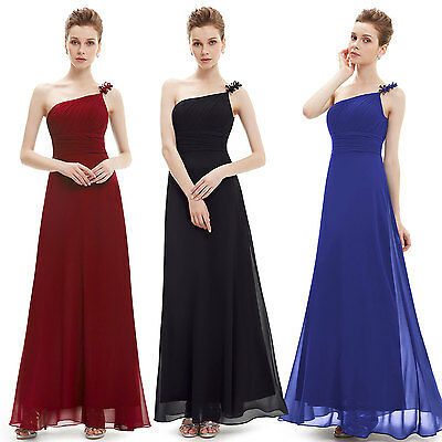 Ever-Pretty Long Elegant Bridesmaid Dresses One Shoulder Evening Prom Gown 09596