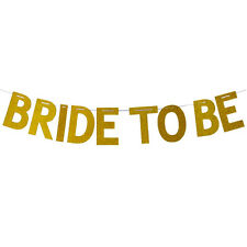 BRIDE TO BE BRIDAL SHOWER GLITTER JOINTED BANNER HEN NIGHT PARTY DECORATION