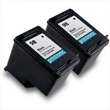 2 HP 98 HP98 C9364WN Black Ink Cartridges fits Deskjet & Officejet Printers