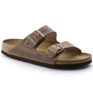 Birkenstock-Arizona-Classic-Sandals-Waxy-Leather-Tabacco-Brown