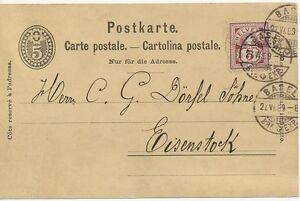 SCHWEIZ-034-BASEL-BRF-EXP-034-K2-5-C-GA-Postkarte-m-5-C-braunkarmin-Zusatzfr-1889