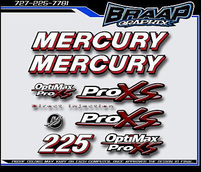 Mercury 225 Saltwater Boat Graphics Decals Sticker