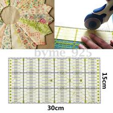 1Pc Acrylic Quilt Ruler Patchwork Acrylic Sewing Ruler Quilting Tool 30x15cm