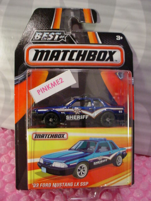 2016 MATCHBOX Best of World '93 FORD MUSTANG LX SSP☆Blue; SHERIFF☆mb969☆Series 1