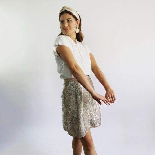 Tory Burch Metallic Mini Skirt Size Small