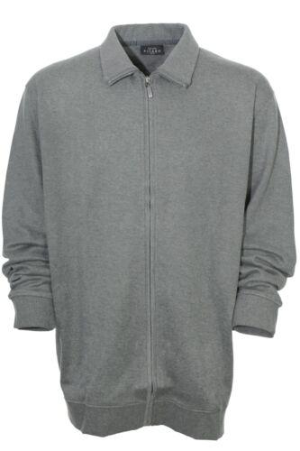 Kitaro Sweatjacke Sweat Jacke Shirt Herren Langarm Baumwolle Plusgröße
