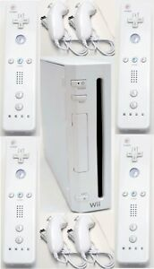 4-REMOTE-Nintendo-Wii-Video-Game-System-ULTIMATE-FAMILY-BUNDLE-Console-Set-Kit