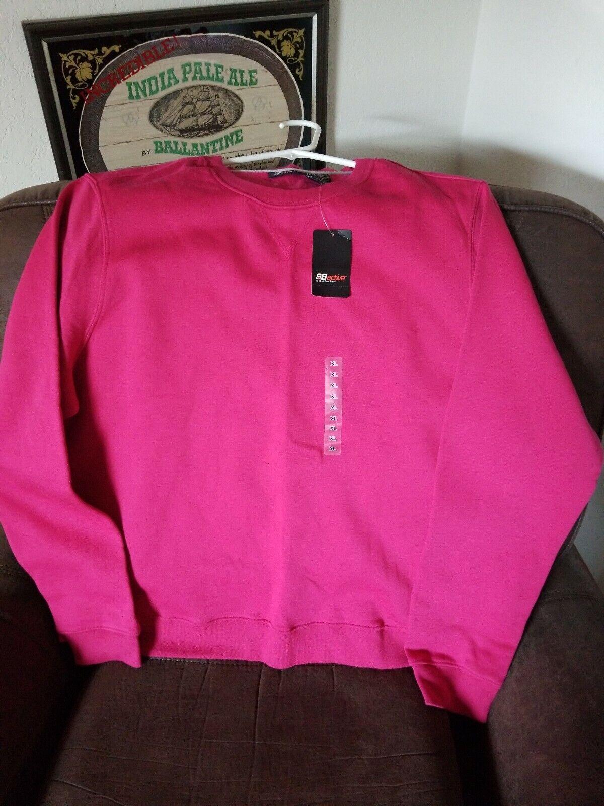 St. John's Bay pink Sweatshirt Size XL Soft tech Fleece SJB Active