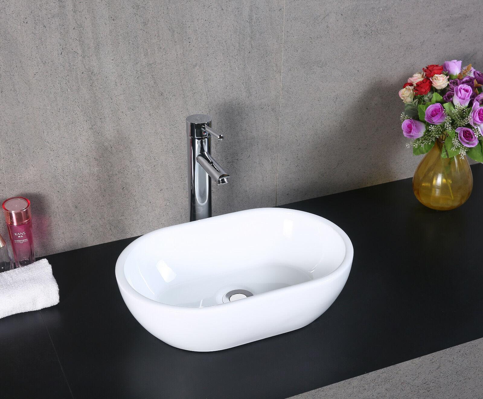 Bagno ripiano in ceramica bianco bacino Guardaroba Gloss LAVAGGIO LAVANDINO