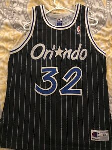 new style 126c0 df747 Details about Champion Shaq Shaquille O'Neal Authentic Orlando Magic jersey  44 vintage 90s Use