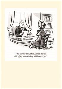 Punch Jane Austen Cartoon Humour Greeting Card Funny Range Cards Blank Inside