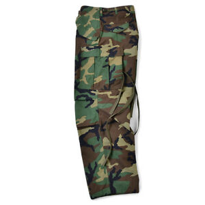 NEW-M65-Field-Pants-Woodland-Camouflage-Genuine-US-ARMY-Original-RARE-Med-Long