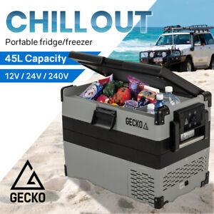 GECKO 45L Portable Fridge Freezer Cooler Camping 12V/24V/240V 4WD Boating for