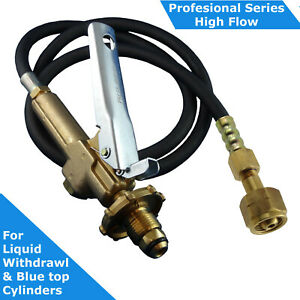 LPG-Filler-Gun-amp-Hose-CGA-555-to-POL-BBQ-Fitting