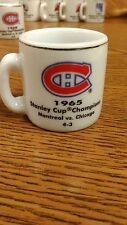 NHL STANLEY CUP CRAZY MINI MUG MONTREAL CANADIENS 1965 CHAMPS W/OPPONENT &SCORE