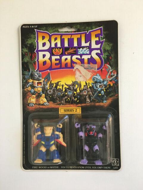 1987 Hasbro Battle Beasts Series 2 Pew-Trid Skunk 52 & Squirrely Squirrel 49 MOC
