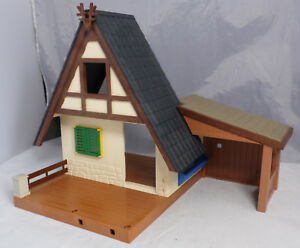 PLAYMOBIL-Ersatzteile-Dach-Wand-Anbau-Unterstand-Bodenplatte-aus-4207-Forsthaus