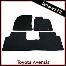 Toyota Avensis Mk3 2009 2010 2011 onwards Tailored Fitted Carpet Car Mats BLACK