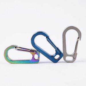 1-Pc-Titanium-Alloy-Carabiner-Keychain-EDC-Waist-Clip-Anti-lost-Hanger-Natural