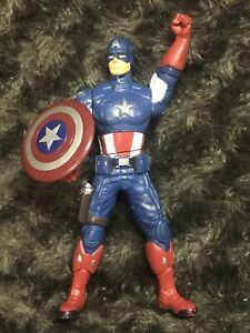 Marvel Avengers Shield Spinning Captain America 6 Inch Action Figure Hasbro 2011