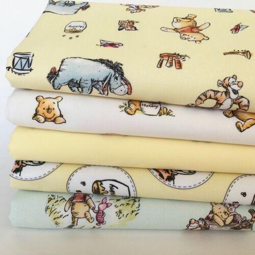 New Winnie-the-Pooh tissus par 1//2 Mètre Ou 5 Pièce faisceaux 100/% tissu de coton
