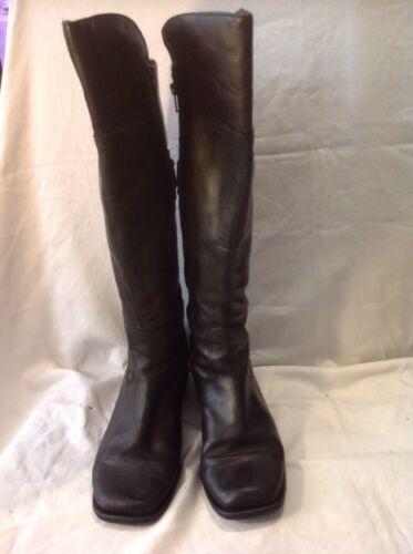 Knee Clarks High 5d Leather Black 6 Size Boots q17pUP