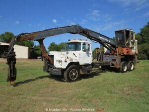 Mack/Prentice DM690S/410EX Truck Mounted Log Loader Mack Diesel 7 Speed bidadoo