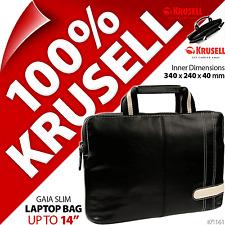 "NUOVO KRUSELL GAIA 14 ""Borsa Laptop Imbottita Notebook VALIGETTA MacBook + Carry Pouch e"