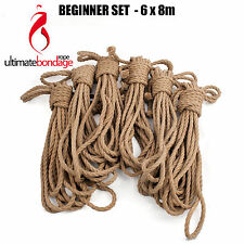 Corda bondage shibari asanawa jute rope 5mm - 6x8m set beginner