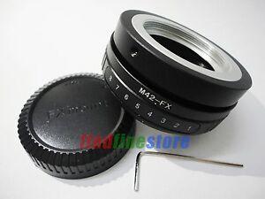 Tilt-M42-Lens-to-Fujifilm-Fuji-FX-X-mount-X-Pro1-X-A1-X-E2-X-M1-adapter-CAP