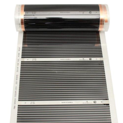 Infrared 8.5UM 14UM Underfloor Heating Film Foil Mats For Laminate Solid Floor