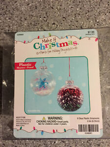 Make-It-Christmas-Round-Clear-Plastic-Ball-Ornaments-2-5-Pack-of-4