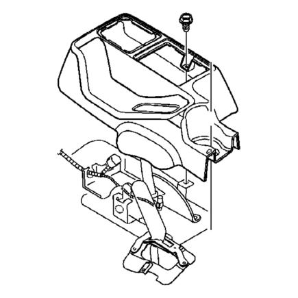 2018 Jeep Wrangler Rear Console 6km06tx7ab