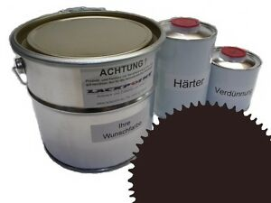 1,5 Liter Set 2K Floor Coating Ral 8017 Braun Shine Floor Color Workshop