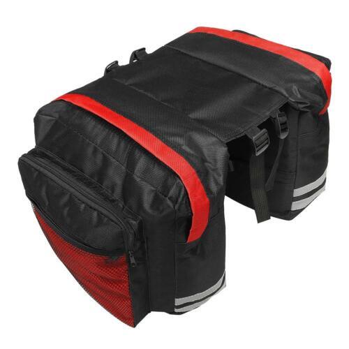 Mountain Bike Bicycle Double Side Rear Rack Tail Seat Trunk Bag Pannier Bag 7E