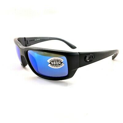 4be3a0ef598f Details about NEW Costa del Mar Fantail TF 01 OBMGLP Blackout Frame / Blue  Mirror 580G Lenses